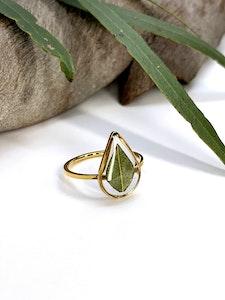 Eucalyptus Teardrop Ring