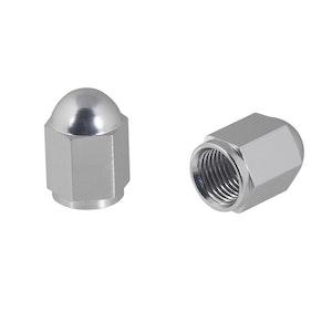 Nut Style Valve Caps - Silver