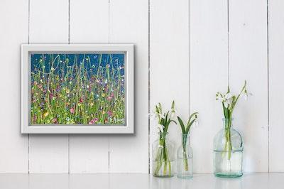 Fiona Adams Artwork A Thankful Heart - Mini Original painting