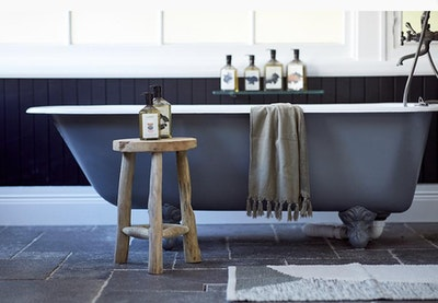 Woven Bath Mat - Olive