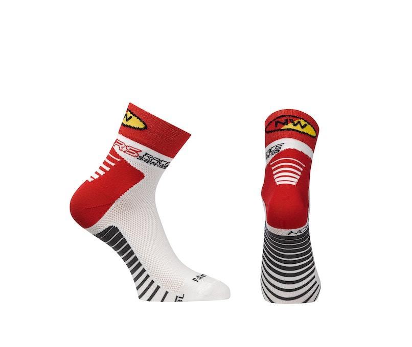 Northwave Speed Socks White/Red, Short Socks