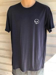 Men's Short Sleeve Pyjama Top   100% Merino Wool Navy