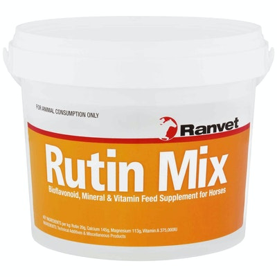 Ranvet Rutin Mix Horses Mineral & Vitamin Feed Supplement Powder - 2 Sizes