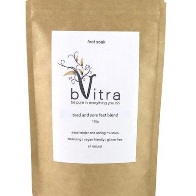 bVitra Foot Soak - Magnesium Chloride Flakes, MSM, Lemon Myrtle, Himalayan Cedarwood and Juniper Berry essential oils