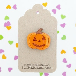 Halloween Jack O' Lantern Brooch