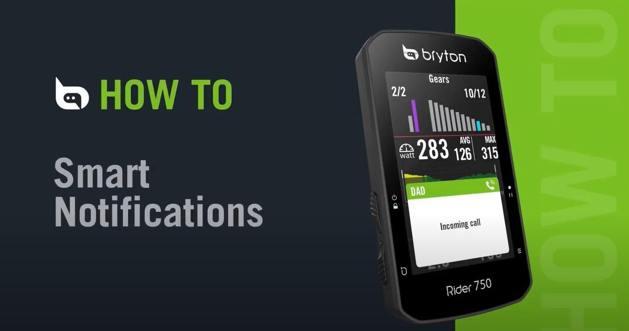 Bryton Rider 750 | Smart Notifications
