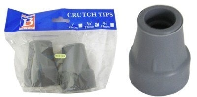 "Bemed Crutch Tips Grey 7/8"" 22mm"