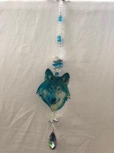 Handmade By Bronzerose Wolf Suncatcher