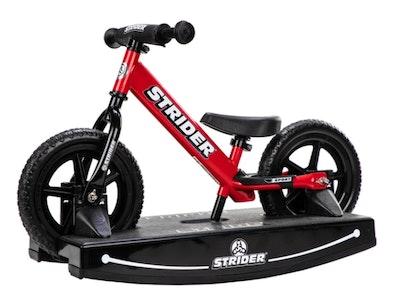"Strider 12"" Sport Balance Bike & Rocking Base - Red"