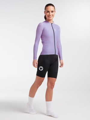 Black Sheep Cycling Women's WMN Long Sleeve LuxLite Jersey - Pink Wave