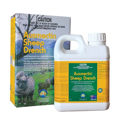 IAH Ausmectin Sheep Drench Broad Spectrum Oral Antiparasitic Solution 20L