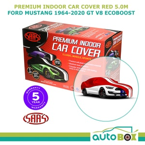 Red Premium SAAS Show Car Cover Ford Mustang 1964-2020 GT V8 Ecoboost 5.0m