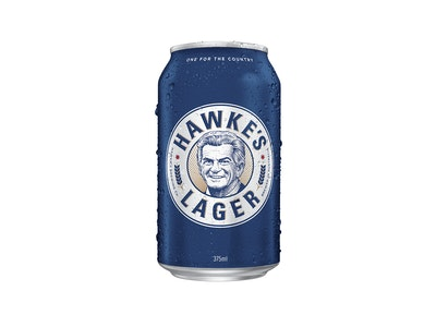 Hawke's Lager Can 375mL