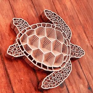 Turtle - Mandala style puzzle