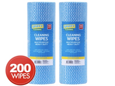 Boutique Medical 2 x Spiffy Cleaning Wipes Multipurpose Chux 100pk