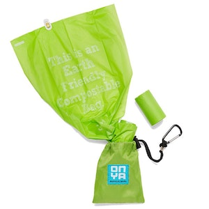 Onya 30 Dog Waste Disposable Bags and Carry Pouch - Apple