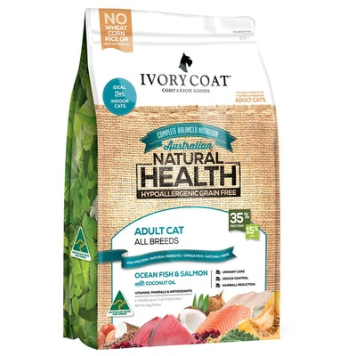 IVORY COAT Cat Adult 1+ Ocean Fish & Salmon With Coconut Oil 3kg