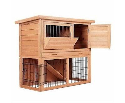 House of Pets Delight Rabbit Hutch w/ 2 Storeys Run