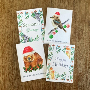 Australian Christmas Greeting Cards Pack of 4