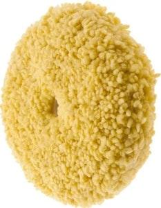 "9"" Double Sided Yellow Wool Buff Pad 5/8"""