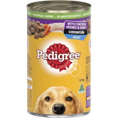 Pedigree Adult Dog Food Casserole w/ Chicken Vegies & Gravy 12 x 1.2kg