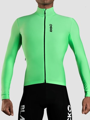 Black Sheep Cycling Men's Elements LS Thermal Jersey - Green