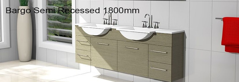 Timberline bargo 1800mm wall hung vanity pre built for Bathroom cabinets 1800mm