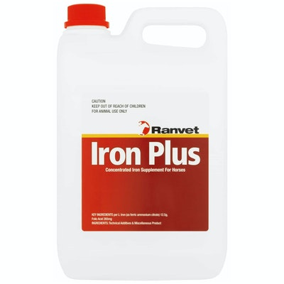 Ranvet Iron Plus Horses Concentrated Supplement w/ Folic Acid - 2 Sizes