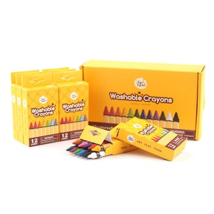 JarMelo WASHABLE CRAYONS -BULK SET 12-8 PACKS