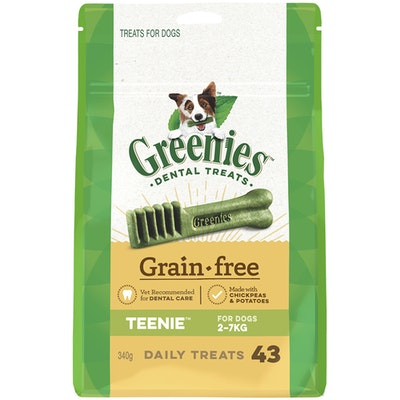 Greenies Grain Free Teenie Dogs Dental Treats 2-7kg 340g