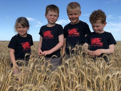 Kids' Short Sleeve Navy Header T-Shirt