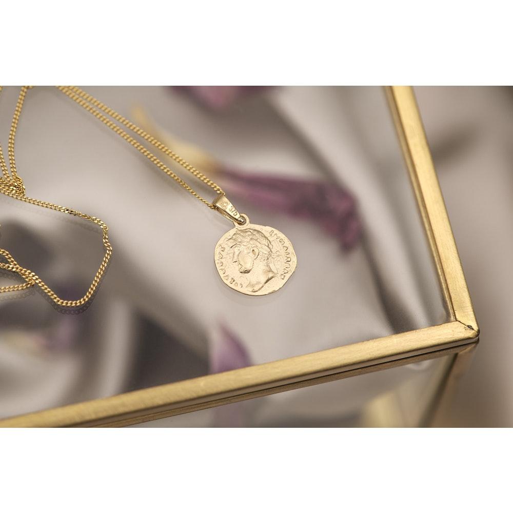Jessica Alice Jewellery 9ct Solid Gold Campania Coin Pendant