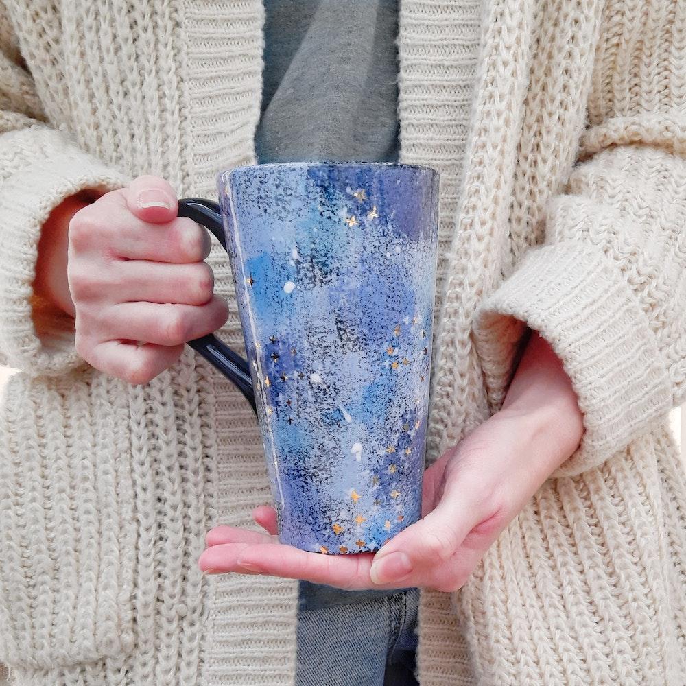 Lauren Michelle Designs  Large Powder Blue Galaxy Mug