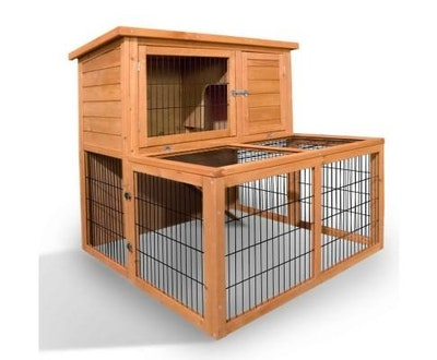 House of Pets Delight 2 Storey Wooden Rabbit Hutch Chicken Coop Guinea Pig Cage