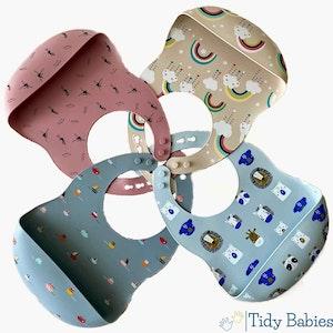 Tidy Babies  Silicone Baby Feeding Bib With Cartoon Print