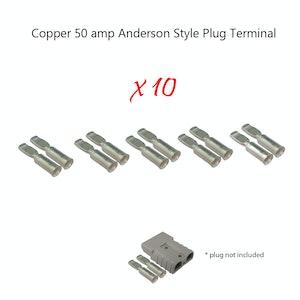10 x 50 amp Anderson Plug Copper Terminals