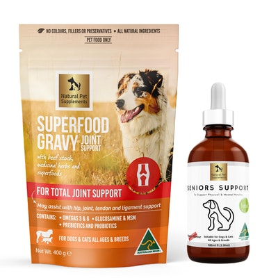 Natural Pet Supplements Seniors Kit for Dogs and Cats