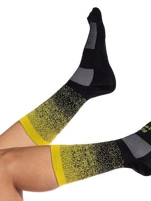 Taba Fashion Sportswear Media Ciclismo Degrade Negro Amarillo