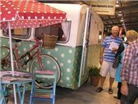 Trelise Cooper designed caravan shown by Breast Cancercure Research Trust