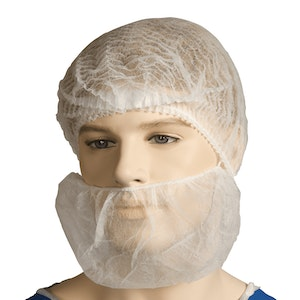 Polypropylene Beard Cover | Single Loop | 100 Covers Per Pack