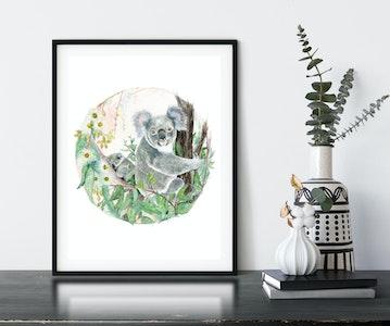 Koala Haven Fine Art Print