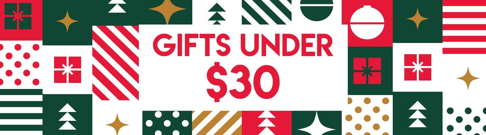 Gifts Under $30 Banner