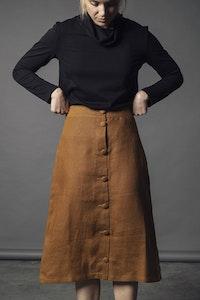 Lavender Linen Skirt - Ochre