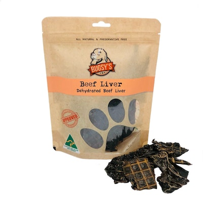 Bugsy Pet Supplies HEALTHY SNACKS | Dehydrated Beef Liver Dog Treats