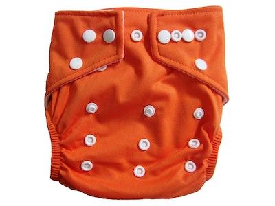 Hippybottomus Stay Dry Bamboo Cloth Nappy - Orange