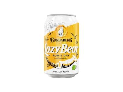 Bundaberg Lazy Bear Rum & Dry with Natural Lime 375mL