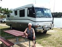 CMCA Chairman  Diana Worner with her  motor  home