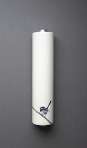 Blue Wren Wall Vase