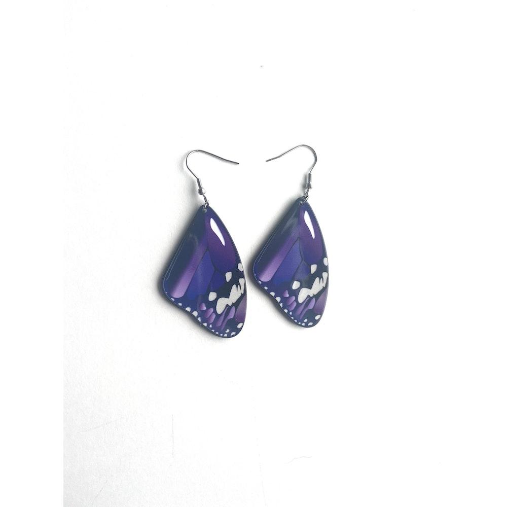 One of a Kind Club Purple Medium Butterfly Earrings