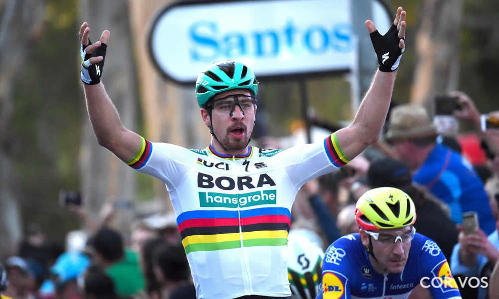 Peter Sagan wins the People's Choice Classic at the Tour Down Under